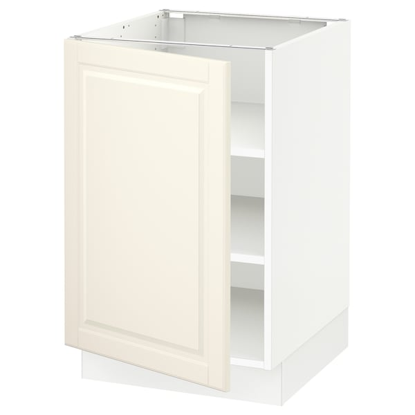 """SEKTION Base cabinet with shelves, white/Bodbyn off-white, 21x24x30 """""""