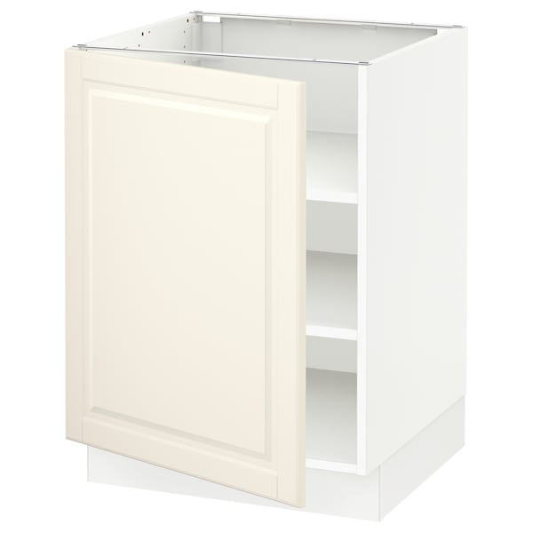 """SEKTION Base cabinet with shelves, white/Bodbyn off-white, 24x24x30 """""""