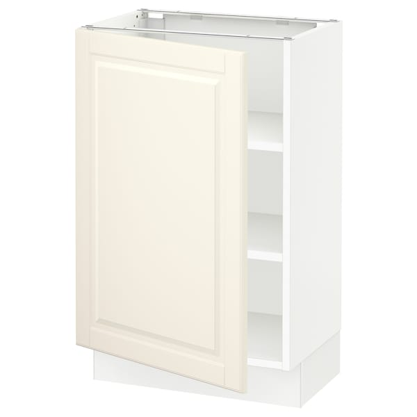 """SEKTION Base cabinet with shelves, white/Bodbyn off-white, 21x15x30 """""""