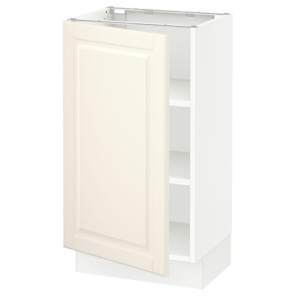 """SEKTION Base cabinet with shelves, white/Bodbyn off-white, 18x15x30 """""""