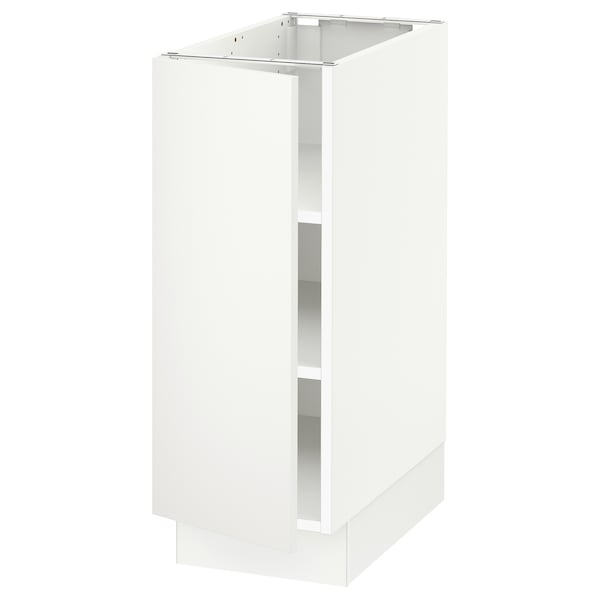"""SEKTION Base cabinet with shelves, white/Häggeby white, 12x24x30 """""""