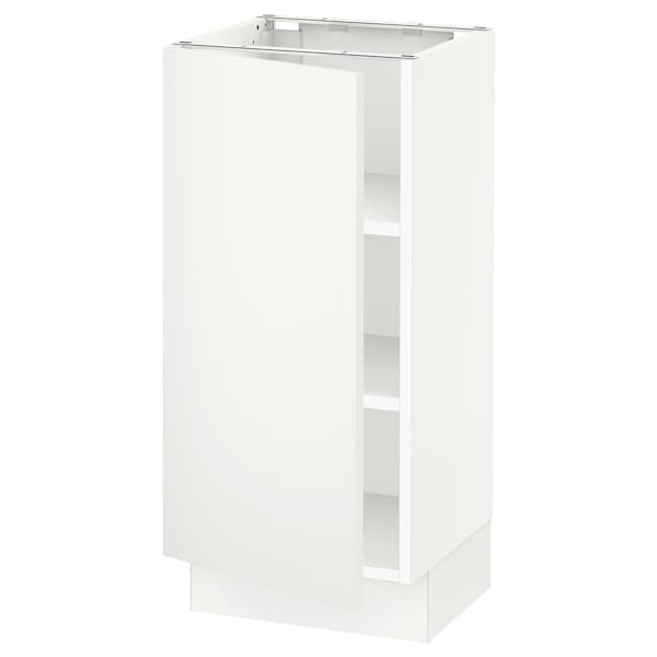 """SEKTION Base cabinet with shelves, white/Häggeby white, 15x15x30 """""""