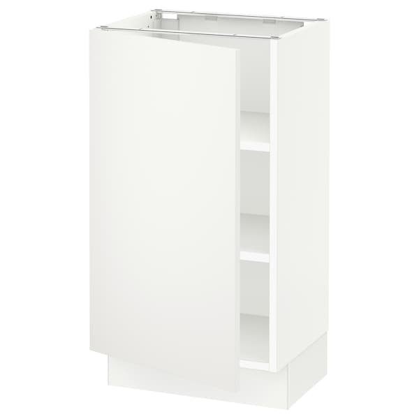 """SEKTION Base cabinet with shelves, white/Häggeby white, 18x15x30 """""""