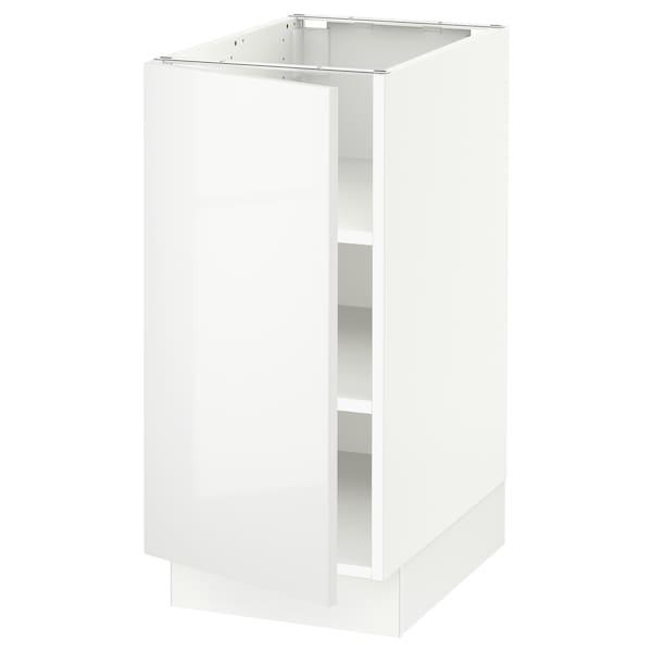 "SEKTION Base cabinet with shelves, white/Ringhult white, 15x24x30 """