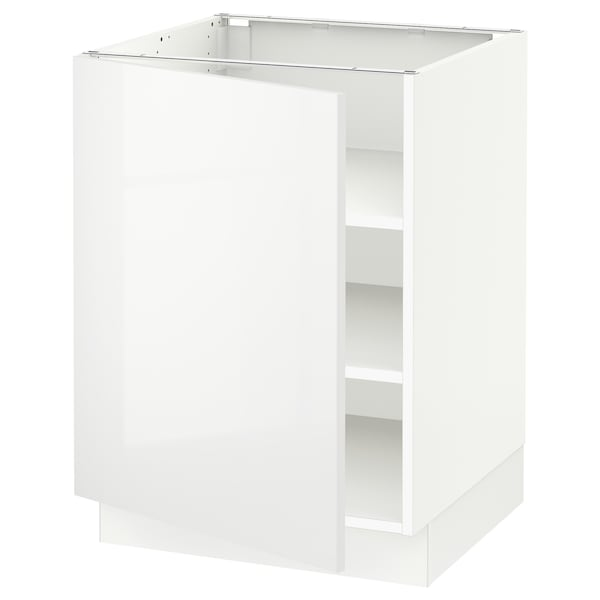 SEKTION Base cabinet with shelves, white/Ringhult white, 24x24x30 ""