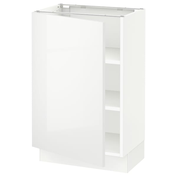 SEKTION Base cabinet with shelves, white/Ringhult white, 21x15x30 ""