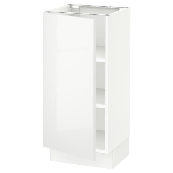 "SEKTION Base cabinet with shelves, white/Ringhult white, 15x15x30 """