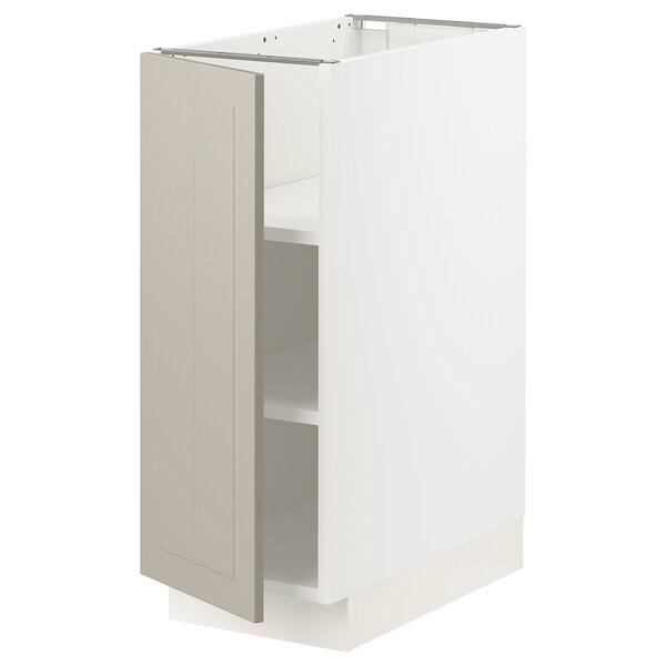"""SEKTION Base cabinet with shelves, white/Stensund beige, 12x24x30 """""""