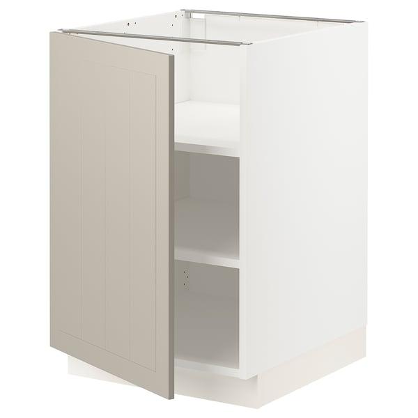 """SEKTION Base cabinet with shelves, white/Stensund beige, 21x24x30 """""""