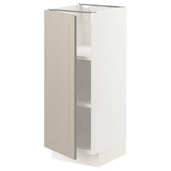 """SEKTION Base cabinet with shelves, white/Stensund beige, 12x15x30 """""""