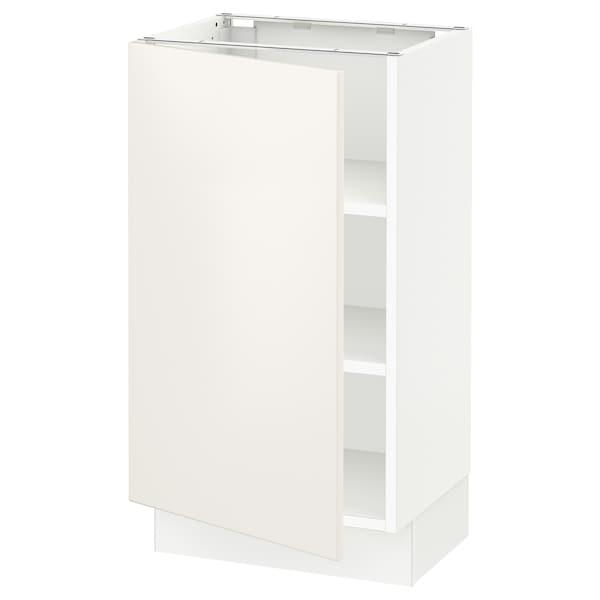 "SEKTION Base cabinet with shelves, white/Veddinge white, 18x15x30 """