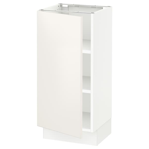 "SEKTION Base cabinet with shelves, white/Veddinge white, 15x15x30 """