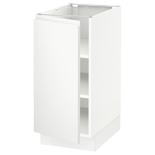 "SEKTION Base cabinet with shelves, white/Voxtorp matt white, 15x24x30 """