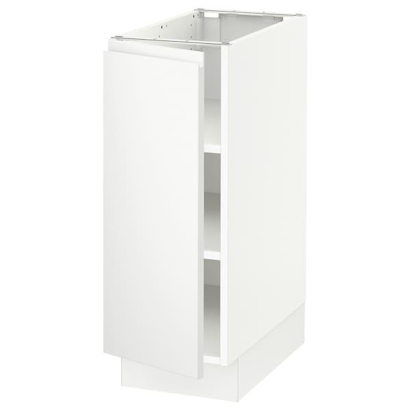 "SEKTION Base cabinet with shelves, white/Voxtorp matt white, 12x24x30 """