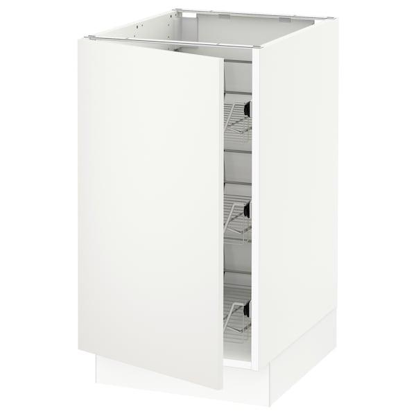 "SEKTION Base cabinet with wire baskets, white/Häggeby white, 18x24x30 """
