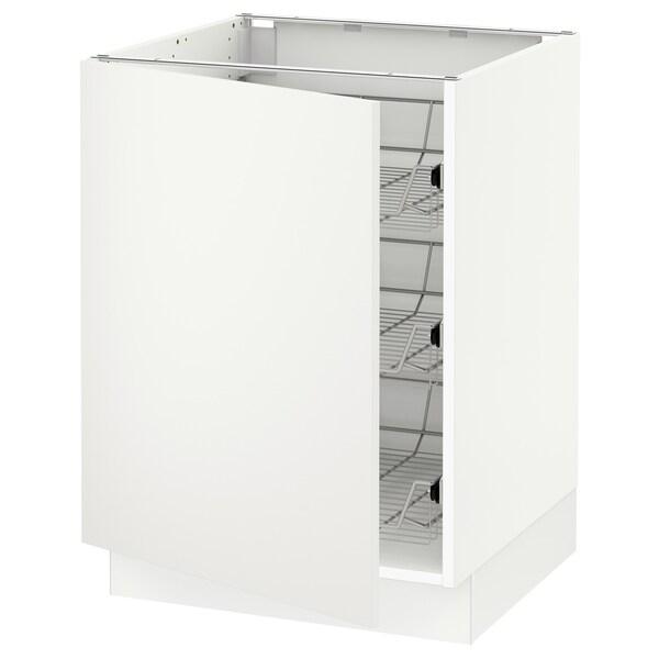 "SEKTION Base cabinet with wire baskets, white/Häggeby white, 24x24x30 """