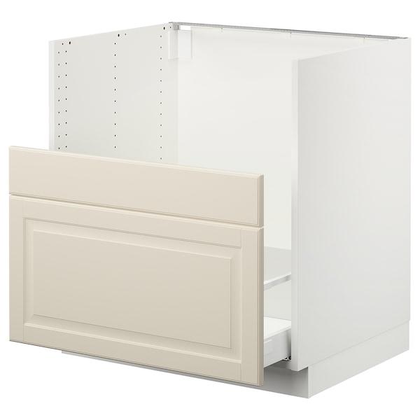 "SEKTION Cabinet f/BREDSJÖN sink+2 fronts, white Maximera/Bodbyn off-white, 30x24x30 """