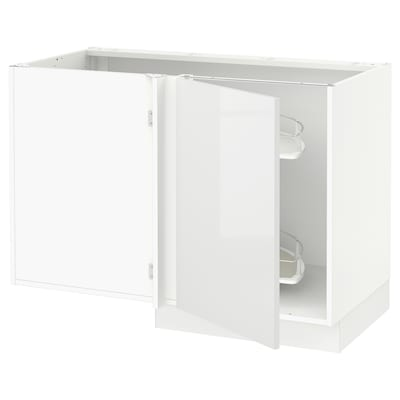 SEKTION Corner base cab w pull-out fitting, white/Ringhult white, 47x24x30 ""