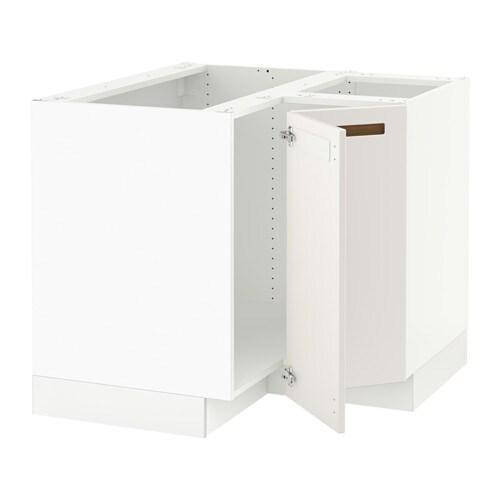 sektion corner base cabinet for sink white m rsta white left handed ikea. Black Bedroom Furniture Sets. Home Design Ideas