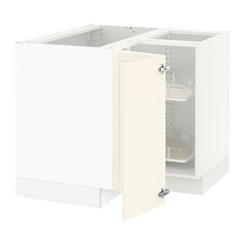 ikea kitchen corner cabinet sektion corner base cabinet with carousel white bodbyn 17686