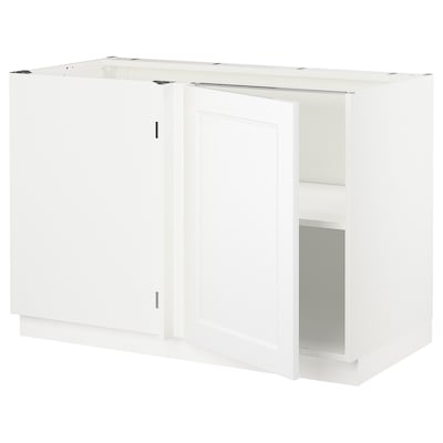 SEKTION Corner base cabinet with shelf, white/Axstad matt white, 47x24x30 ""