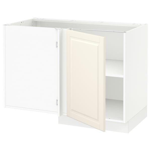 "SEKTION Corner base cabinet with shelf, white/Bodbyn off-white, 47x24x30 """