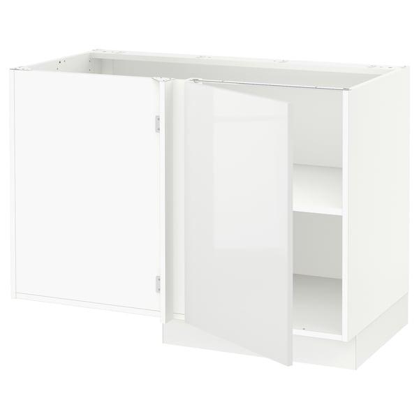 "SEKTION Corner base cabinet with shelf, white/Ringhult white, 47x24x30 """
