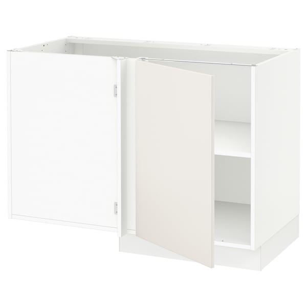 "SEKTION Corner base cabinet with shelf, white/Veddinge white, 47x24x30 """