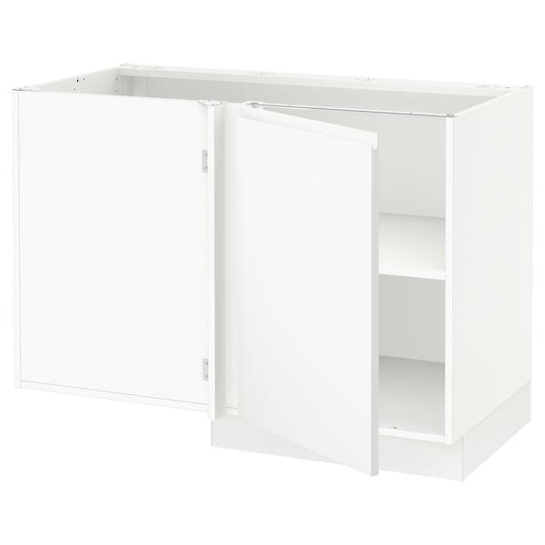 """SEKTION Corner base cabinet with shelf, white/Voxtorp matt white, 47x24x30 """""""
