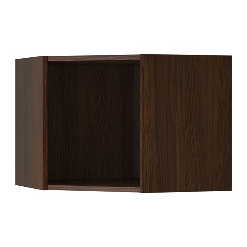 Sektion Corner Wall Cabinet Frame Wood Effect Brown 26x26x20 Ikea