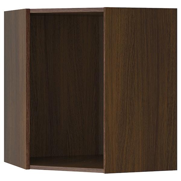 "SEKTION Corner wall cabinet frame, wood effect brown, 26x26x30 """