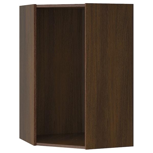 "SEKTION Corner wall cabinet frame, wood effect brown, 26x26x40 """