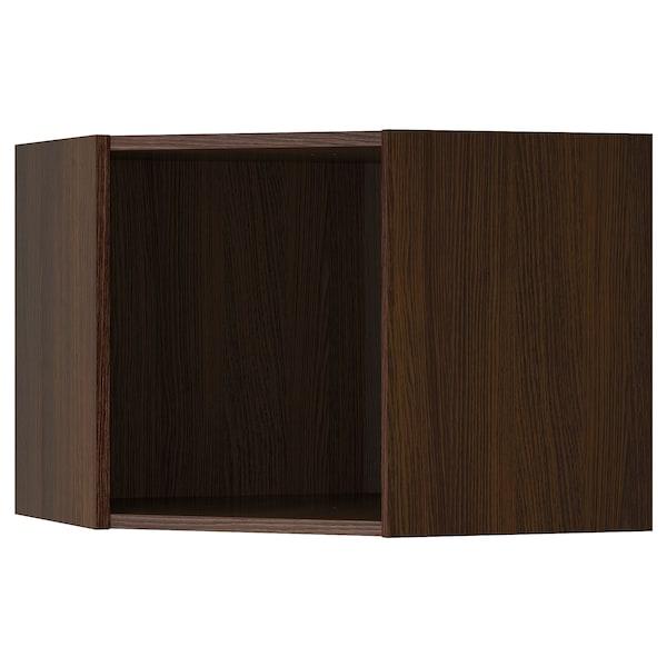 "SEKTION Corner wall cabinet frame, wood effect brown, 26x26x20 """