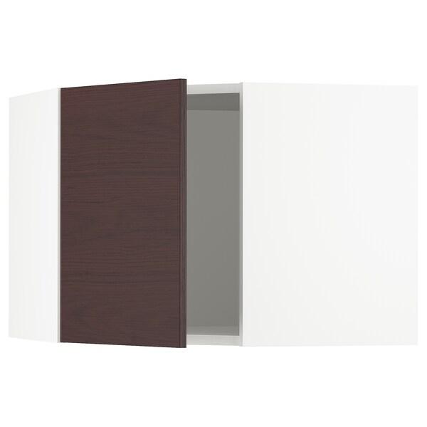 """SEKTION Corner wall cabinet, white Askersund/dark brown ash effect, 26x15x20 """""""