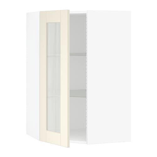 Sektion Corner Wall Cabinet With Gl Door