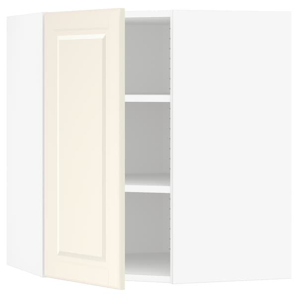 SEKTION Corner wall cabinet with shelves, white/Bodbyn off-white, 26x15x30 ""
