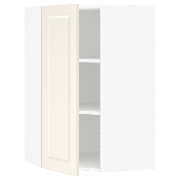 """SEKTION Corner wall cabinet with shelves, white/Bodbyn off-white, 26x15x40 """""""