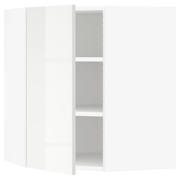 "SEKTION Corner wall cabinet with shelves, white/Ringhult white, 26x15x30 """