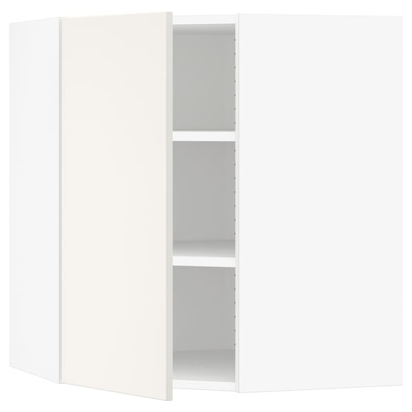 "SEKTION Corner wall cabinet with shelves, white/Veddinge white, 26x15x30 """