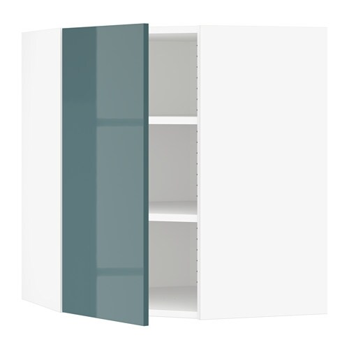 Sektion corner wall cabinet with shelves white kallarp for Ikea turquoise shelf