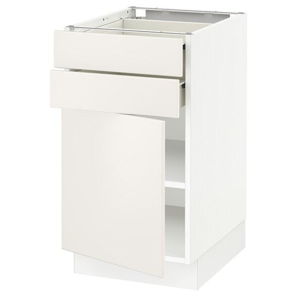"SEKTION / FÖRVARA Base cabinet w door/2 drawers, white/Veddinge white, 18x24x30 """