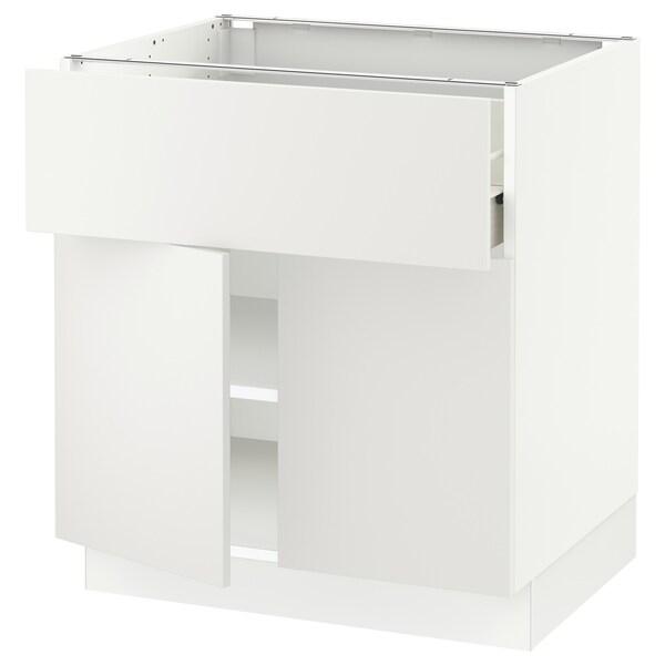 "SEKTION / FÖRVARA Base cabinet with drawer/2 doors, white/Häggeby white, 30x24x30 """
