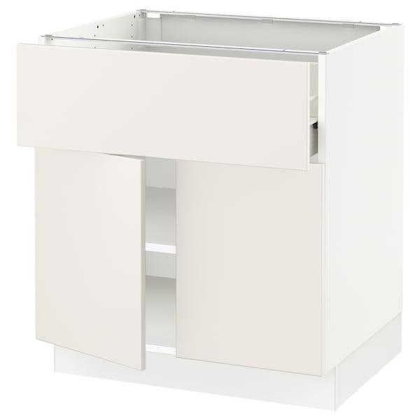 "SEKTION / FÖRVARA Base cabinet with drawer/2 doors, white/Veddinge white, 30x24x30 """