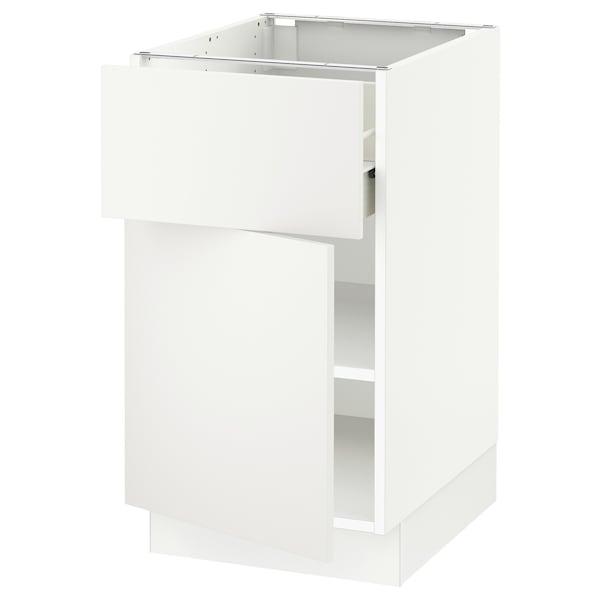 """SEKTION / FÖRVARA Base cabinet with drawer/door, white/Häggeby white, 18x24x30 """""""