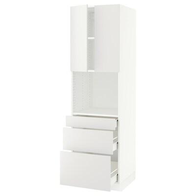 "SEKTION / FÖRVARA hi cb f micro w 3 drawers/2 doors white/Häggeby white 24 "" 24 "" 24 3/4 "" 80 """