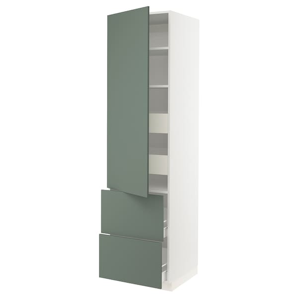 "SEKTION / FÖRVARA High cab w door/2 fronts/4 drawers, white/Bodarp gray-green, 24x24x90 """