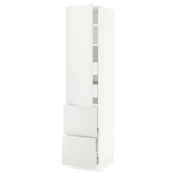 SEKTION / FÖRVARA High cab w door/2 fronts/4 drawers, white/Häggeby white, 18x24x80 ""