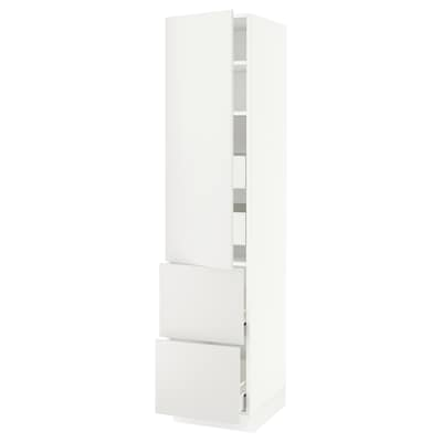 "SEKTION / FÖRVARA High cab w door/2 fronts/4 drawers, white/Häggeby white, 18x24x80 """