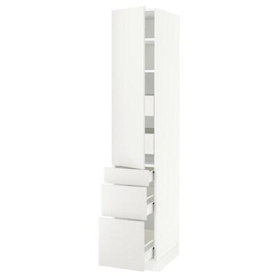 "SEKTION / FÖRVARA High cab w door/3 fronts/5 drawers, white/Häggeby white, 15x24x80 """