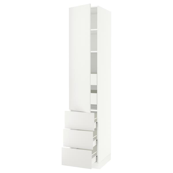 "SEKTION / FÖRVARA high cab w door/3 fronts/5 drawers white/Häggeby white 18 "" 24 "" 24 3/4 "" 90 """